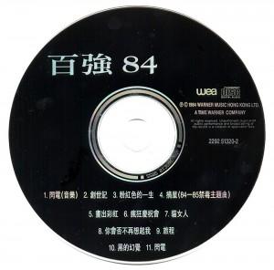1984 百强84 15周年版 CD碟面